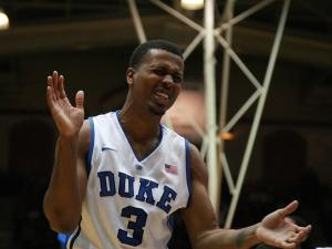 Duke's Tyler Thornton during the Blue Devils' 79-76 victory over Miami on Saturday, March 2, 2013 in Durham, NC (Photo by Jack Morton).