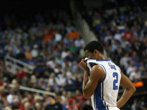 Duke's Quinn Cook during the Blue Devils' 83-74 loss to Maryland in the 60th ACC Tournament on Friday, March 15, 2013 in Greensboro, NC (Photo by Jack Morton).
