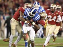 The No. 1 Florida State Seminoles and No. 20 ranked Duke Blue Devils face off in the ACC Championship game at Bank of America Stadium in Charlotte, Saturday, Dec. 7, 2013.