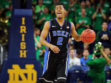 Eric Atkins scored 19 points, Pat Connaughton had 16 and the Fighting Irish upset No. 7 Duke 79-77 on Saturday.