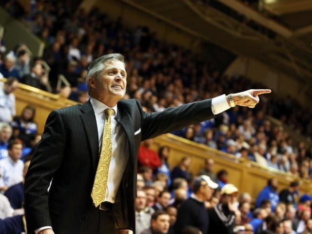 Georgia Tech coach Brian Gregory during the Yellow Jackets' game at Duke on Tuesday, January 7, 2014 in Durham, NC.  Duke defeated Georgia Tech 79-57 (Photo by Jack Morton).