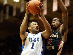 Duke's Jabari Parker during Duke's game versus Florida State on Saturday, January 25, 2014 in Durham, NC.  Duke beat the Seminoles 78-56.  (Photo by Jack Morton)