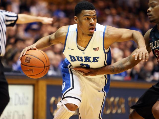 Duke's Quinn Cook during the Blue Devils' game versus Florida State on Saturday, January 25, 2014 in Durham, NC.  Duke beat the Seminoles 78-56.  (Photo by Jack Morton)