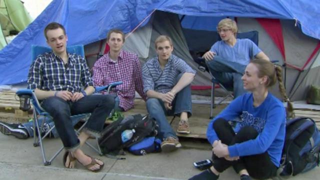 Krzyzewskiville campers