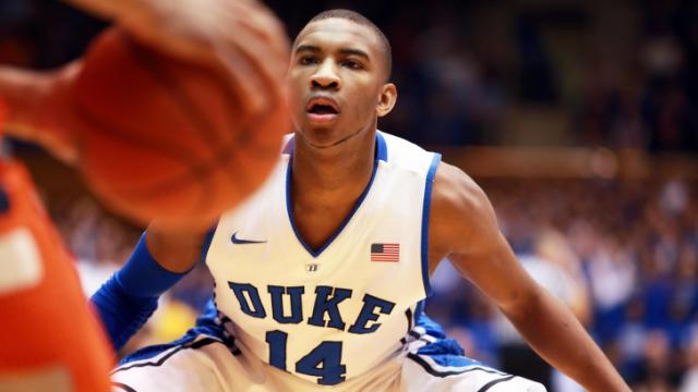 Duke's Rasheed Sulaimon during the Blue Devils' game versus Syracuse on Saturday, February 22, 2014 in Durham, NC.  Duke defeated the Orange 66-60.  (Photo by Jack Morton)