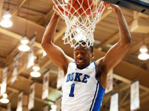Duke's Jabari Parker during the Blue Devils' game versus Virginia Tech on Tuesday, February 25, 2014 in Durham, NC.  Duke defeated the Hokies 66-48.  (Photo by Jack Morton)
