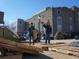 Duke students brave cold to begin tenting