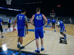 Blue Devils practice at NRG Stadium