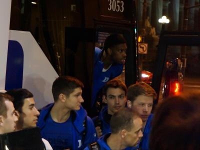 Duke arrives in Indy for Final Four