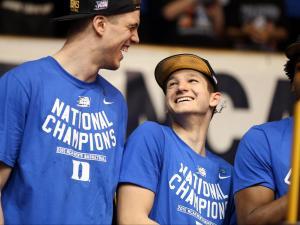 National champion Blue Devils arrive home to celebration