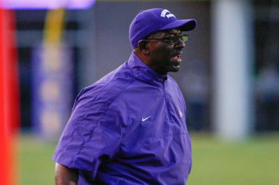 East Carolina Pirates head coach Ruffin McNeill during todays game.East Carolina defeats Old Dominion 52-38 on Saturday, August 31, 2013 in Greenville, NC (Photos By Anthony Barham)