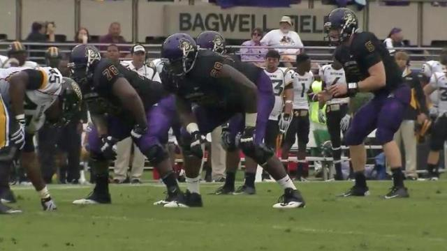Highlights: Carden, ECU roll past So. Miss, 55-14