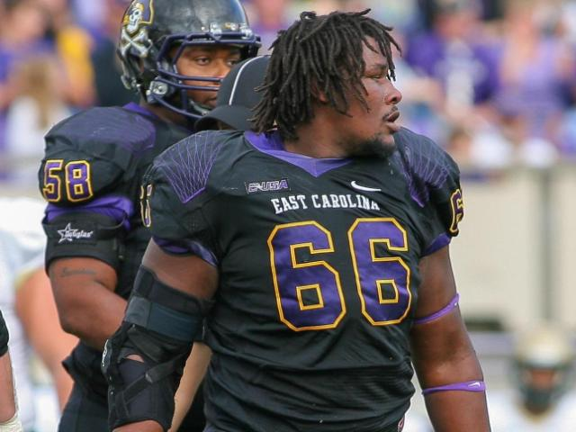 East Carolina Pirates defensive end Terrell Stanley (66) during todays game. East Carolina defeats UAB Blazers 63-14 on Saturday, November 16, 2013 in Greenville, NC (Photos By Anthony Barham)
