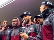 NCCU fans turned out Wednesday to see their team off for its NCAA Tournament run.