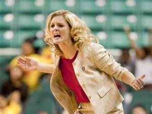 North carolina State head coach Kellie Harper directs her team against Clemson in an ACC women's NCAA college basketball tournament game at the Greensboro Coliseum, on Thursday, March 4, 2010, in Greensboro, N.C. (AP Photo/News & Record,Joseph Rodriguez)