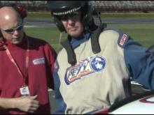 NC State football players enjoy NASCAR experience at Charlotte Motor Speedway
