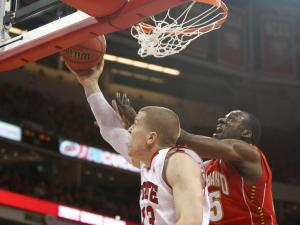 Thomas de Thaey (13) tries a reverse during the Maryland vs. NC State game on January 8, 2012 in Raleigh, North Carolina.