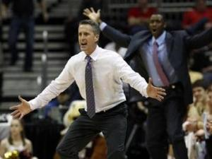 Boston College head coach Steve Donahue on March 8, 2012.