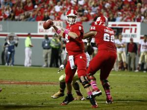 Mike Glennon (8) stands in the pocket during the Florida State vs. NC State game on October 6, 2012 in Raleigh, North Carolina.