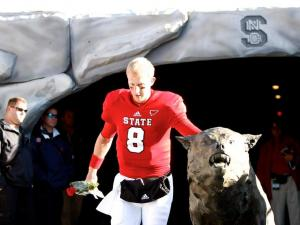 Senior Mike Glennon is recognized before the Boston College vs. NC State game on November 24, 2012 in Raleigh, North Carolina.