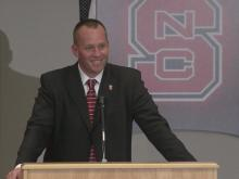 NC State introduces Dave Doeren as new football coach