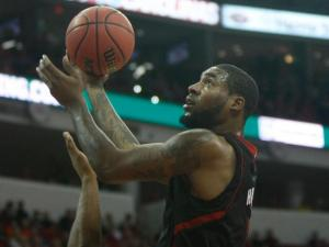 Richard Howell (1) puts up a shot during the Clemson vs. NC State game on January 20, 2013 in Raleigh, North Carolina.