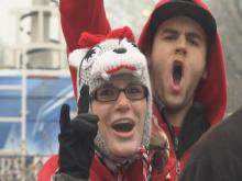 A bit of snow and some freezing temperatures were not enough to keep the North Carolina State University faithful from a chance to be captured by ESPN cameras before the big game against UNC.