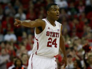 T.J. Warren (24) during the Florida State vs. NC State game on February 19, 2013 in Raleigh, North Carolina.