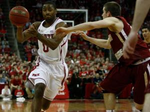 Rodney Purvis (0) drives during the Boston College at NC State game on February 27, 2013 in Raleigh, NC.