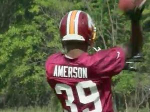 Weekend workouts marked the start of David Amerson's transition from NC State cornerback to becoming an NFL player.