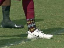 David Amerson's colorful socks have attracted attention in Redskins camp.