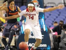 NC State went on a 25-1 run early in the second half Friday to help them get past Syracuse in the quarterfinals of the ACC Women's Basketball Tournament in Greensboro, 79-63.
