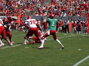 Red tops White at NC State spring game