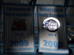 Carolina raises its 2009 championship banner