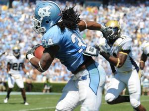 Johnny White (34) runs the ball during the UNC vs. Georgia Tech game, Saturday, Sept. 18, 2010 at Kenan Stadium in Chapel Hill.