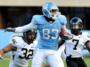 North Carolina Tar Heels wide receiver Dwight Jones (83) North Carolina defeats Wake Forest 49-24 at Kenan Stadium in Chapel Hill North Carolina.