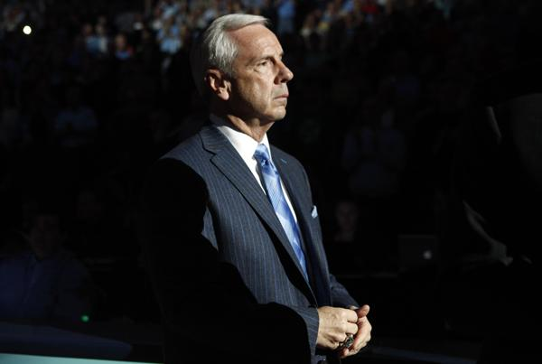 North Carolina head coach Roy Williams during the ACC Tournament championship game in Atlanta on March 11, 2012. <br/>Photographer: Jeff Reeves