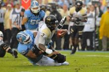 North Carolina Tar Heels defensive tackle Sylvester Williams (92) sacks the QB during todays game.North Carolina defeats Idaho Vandals 66-0 at Kenan Stadium in Chapel Hill North Carolina.