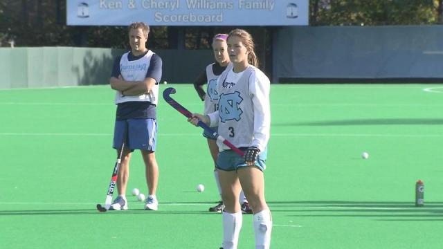 As the University of North Carolina's field hockey team gets ready for the NCAA Final Four, sophomore Samantha Travers is less awed than her teammates by the spotlight for a very unique reason.