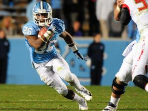 Giovani Bernard (26) runs with the ball during the North Carolina Tar Heels vs. Maryland Terrapins NCAA football game, Saturday, November 24, 2012 in Chapel Hill, NC.