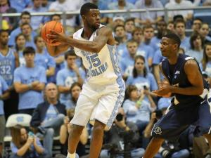 Reggie Bullock # 35 with the ball. East Tennesee State visits UNC and leaves with a 78 to 55 loss. UNC improves to 7-2 record. Photo by CHRIS BAIRD