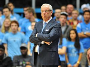 UNC head coach Roy Williams during the North Carolina Tar Heels vs. East Carolina Pirates NCAA basketball game, Saturday, December 15, 2012 in Chapel Hill, NC.