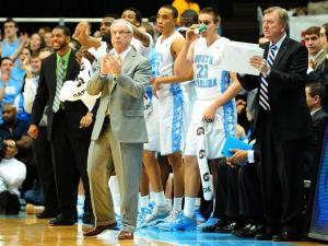 UNC head coach Roy Williams during the North Carolina Tar Heels vs. Maryland Terrapins NCAA basketball game, Saturday, January 19, 2013 in Chapel Hill, NC.