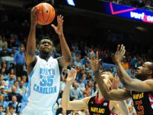 Three Tar Heels have scored in double-digits helping North Carolina defeat Georgia Tech 79-63.
