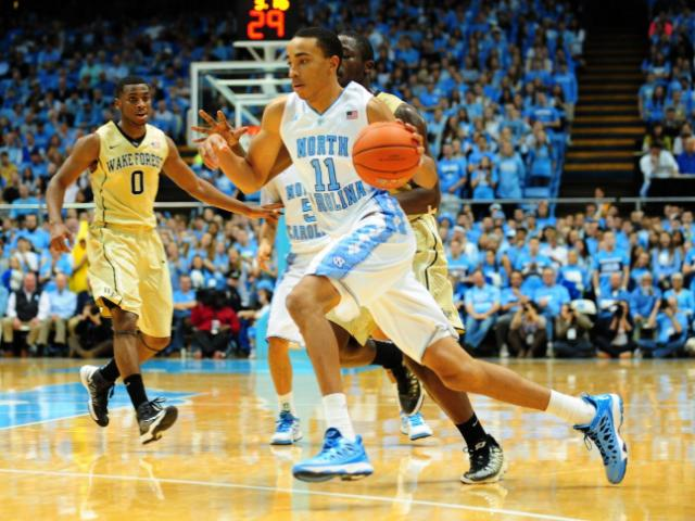 FILE: Brice Johnson (11) drives to the basket during the North Carolina Tar Heels vs. Wake Forest Demon Deacons NCAA basketball game, Wednesday, January 23, 2013 in Chapel Hill, NC.