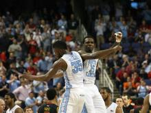 North Carolina escaped a late Maryland run, 79-76, to advance to the ACC Championship Saturday, March 16 at the Greensboro Coliseum.