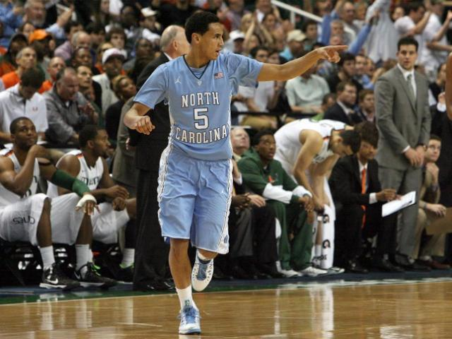 North Carolina's Marcus Paige during the Tar Heels' 87-77 title game loss to Miami in the 60th ACC Tournament on Sunday, March 17, 2013 in Greensboro, NC (Photo by Jack Morton).