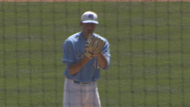 UNC's Kent Emanuel limited Duke to two hits as No. 1 North Carolina defeated the Blue Devils 7-1 in the first game of a doubleheader Saturday at Boshamer Stadium.
