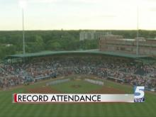 Time lapse: Record crowd fills DBAP