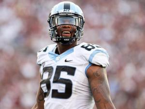 North Carolina's Eric Ebron during the Tar Heels' clash with the South Carolina Gamecocks on Thursday, August 29, 2013 in Columbia, SC (Photo by Jack Morton).